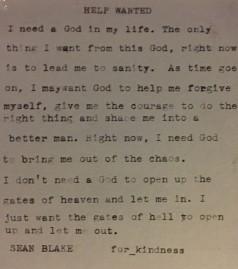 sean help wanted typewriter